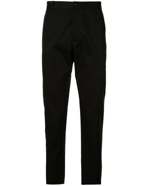 メンズ Dolce & Gabbana クロップド スリムパンツ Black