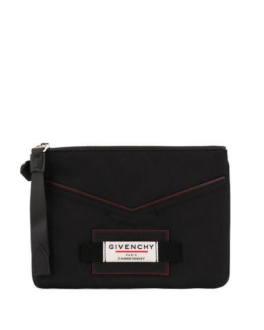 メンズ Givenchy ジップ クラッチバッグ Black