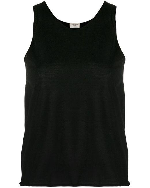 Top a girocollo di Saint Laurent in Black
