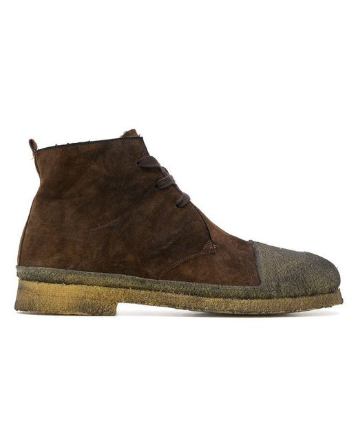 Rocco P - Brown Contrast Toe Boots for Men - Lyst