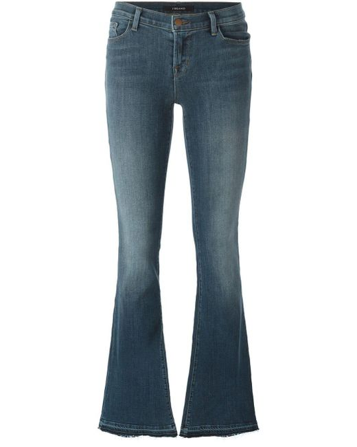 J Brand Blue Bette Highrise Flared Jeans