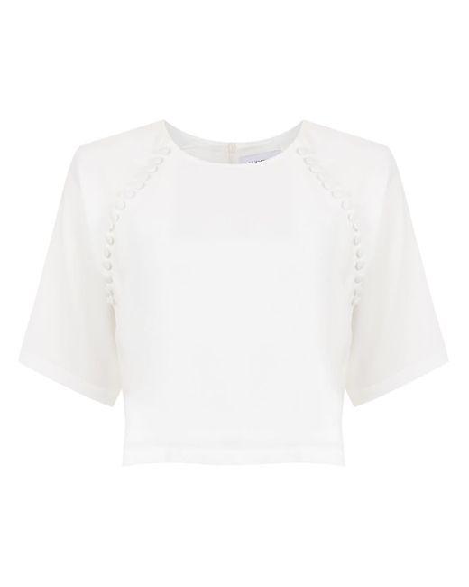 Valle Sagrado cropped top Olympiah en coloris White