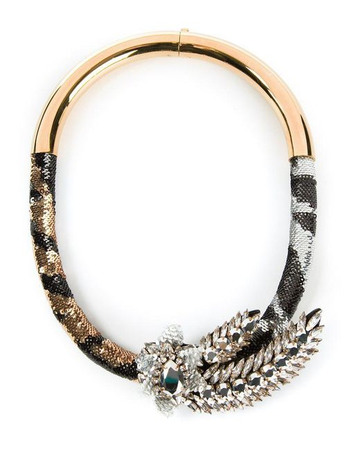 Shourouk - Metallic 'tiger Comet' Necklace - Lyst
