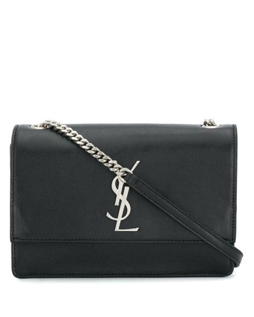 Saint Laurent Black Kate Monogram Crossbody Bag