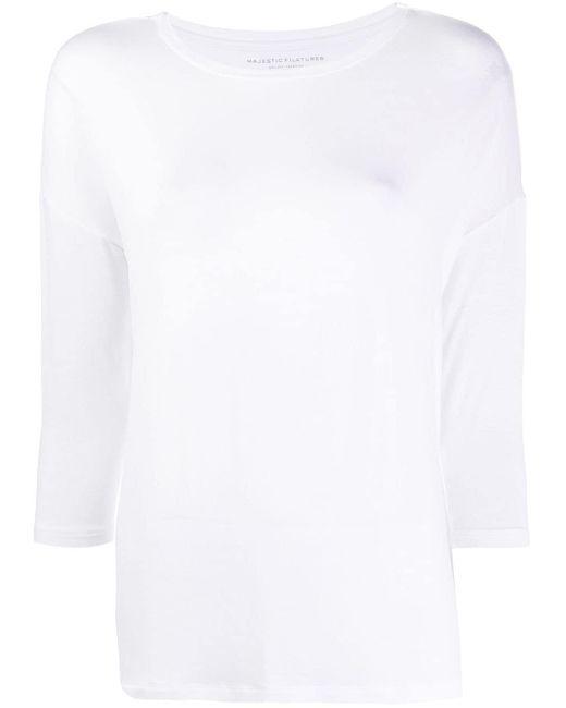 Majestic Filatures ルーズフィット Tシャツ White