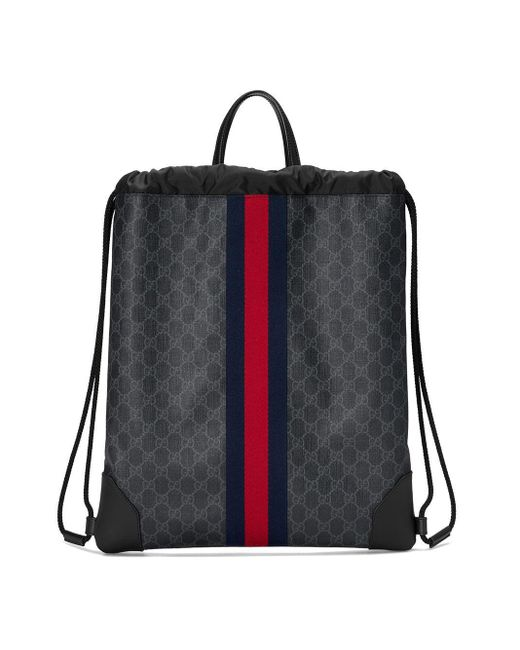 Рюкзак 'GG Supreme' На Шнурке Gucci для него, цвет: Black