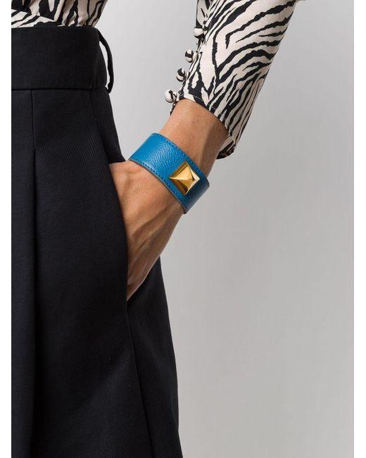 Браслет Pre-owned С Заклепками Hermès, цвет: Blue