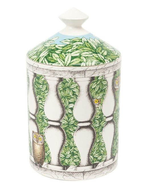 Fornasetti White 'balaustra' Scented Candle