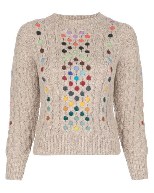 Rosie Assoulin Contrasting Cable-knit Jumper Multicolor