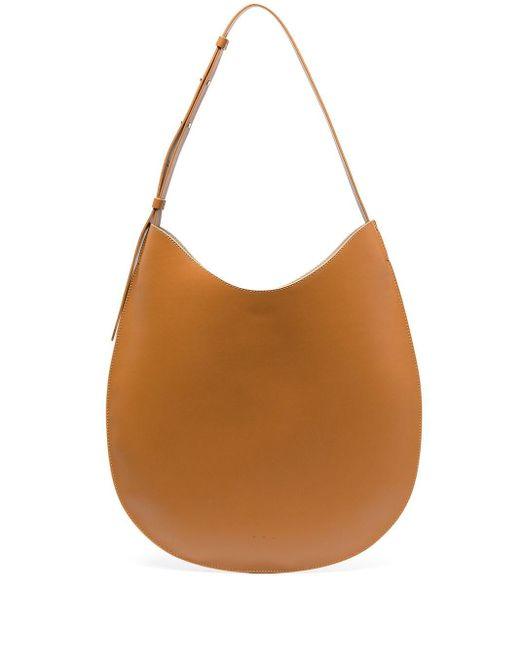 Плоская Сумка-хобо Aesther Ekme, цвет: Brown