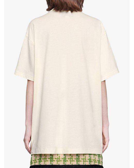 Camiseta oversize con Blade Gucci de color White