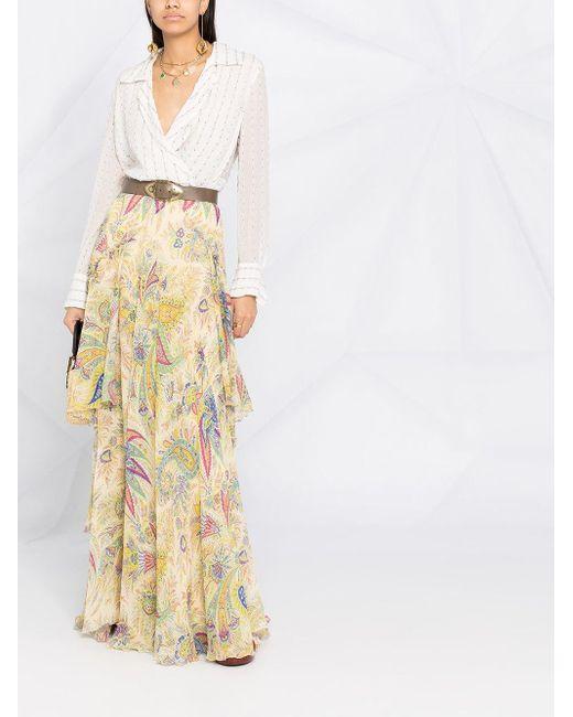 Etro ペイズリー ティアードスカート Multicolor