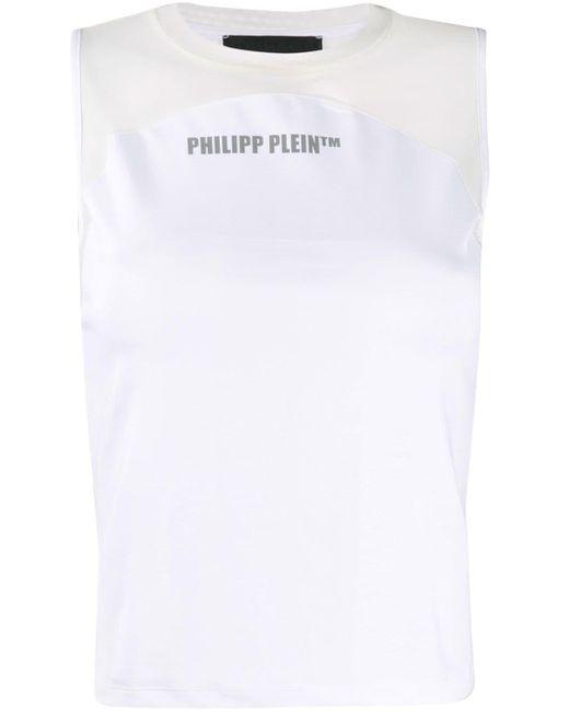 Philipp Plein ロゴ タンクトップ White