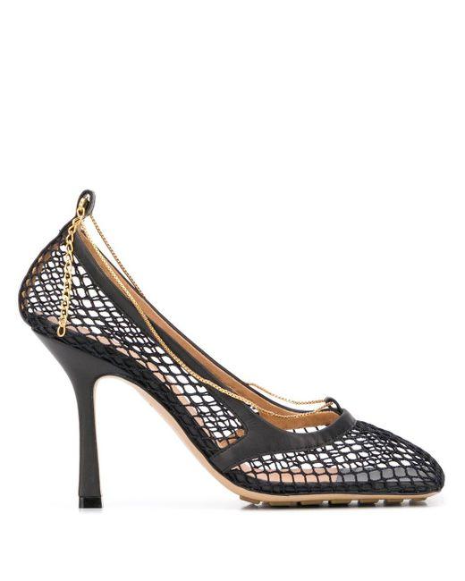 Сетчатые Туфли-лодочки С Цепочкой Bottega Veneta, цвет: Black
