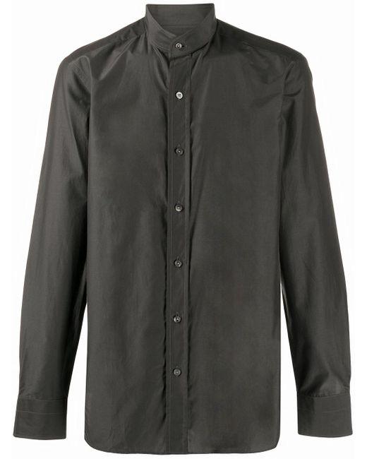 メンズ Tom Ford マンダリンカラー シャツ Gray