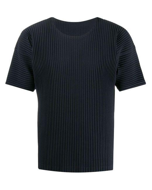メンズ Homme Plissé Issey Miyake プリーツ Tシャツ Blue