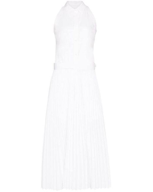 Helmut Lang ノースリーブ シャツドレス White