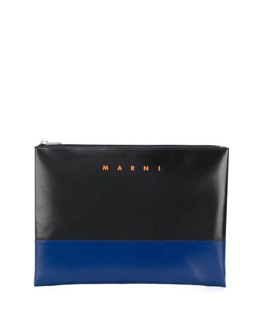 メンズ Marni バイカラー クラッチバッグ Multicolor