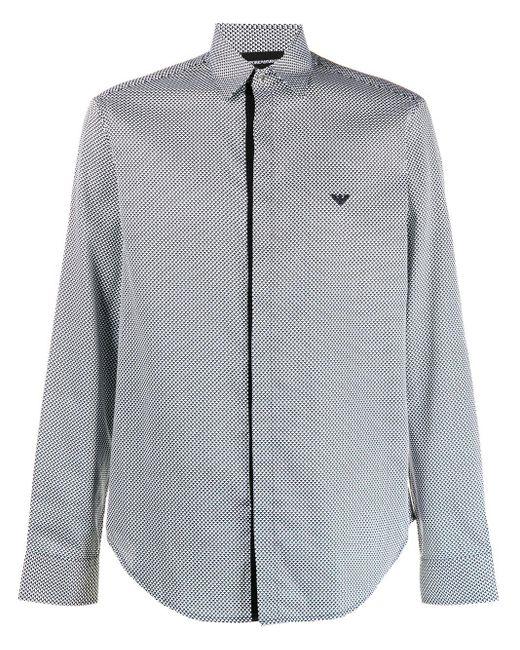 Emporio Armani Hemd mit geometrischem Print in White für Herren