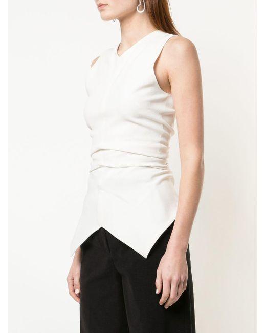 Фактурный Креповый Топ Без Рукавов Proenza Schouler, цвет: White