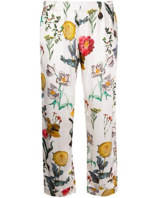 L'Autre Chose Blooming Garden クロップド パンツ White