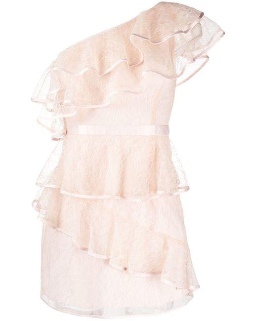 Alice McCALL Pink One-Shoulder-Kleid mit Volants