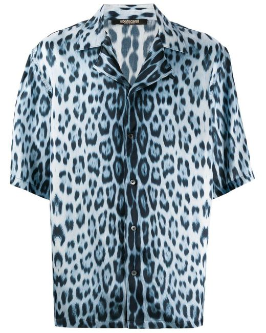 Рубашка С Принтом Heritage Roberto Cavalli для него, цвет: Blue