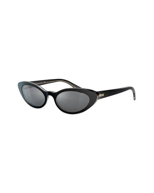 Gafas de sol con montura cat eye Miu Miu de color Black