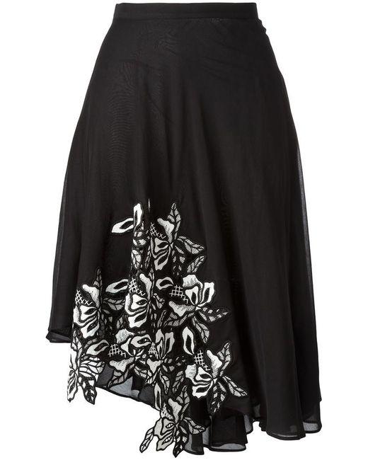 N°21   Black Asymmetric Skirt   Lyst