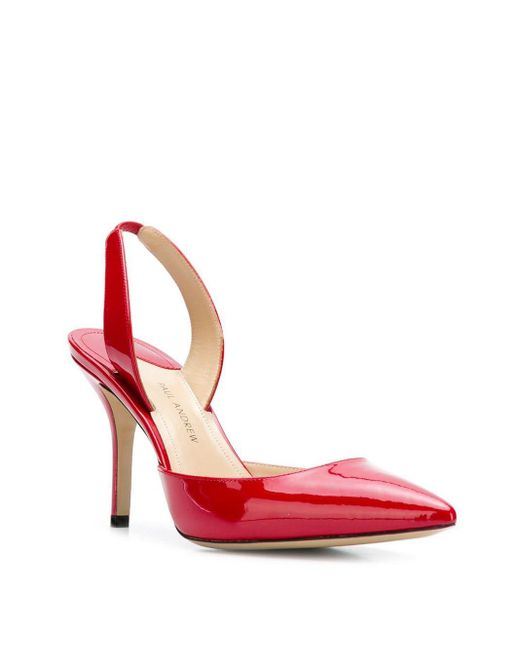 Paul Andrew Red Sling Back Pumps