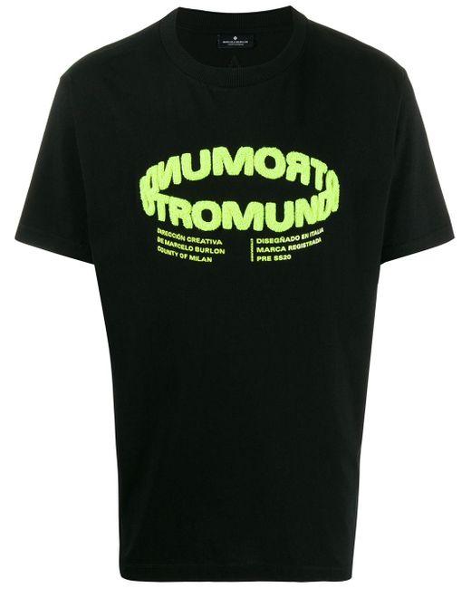 メンズ Marcelo Burlon Otromundo Tシャツ Black