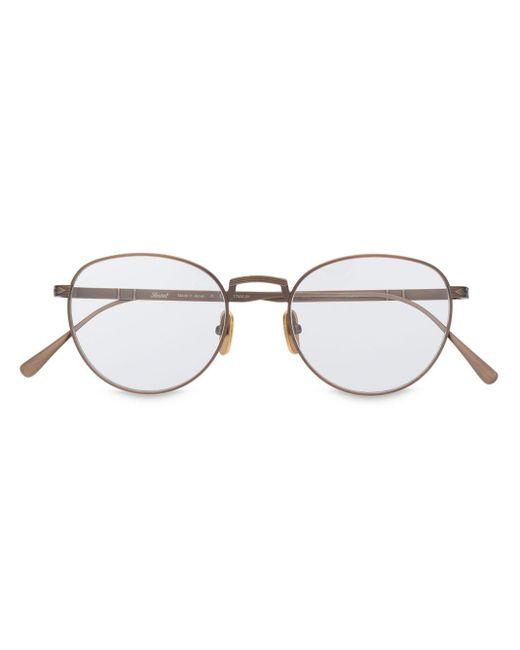 Persol Metallic Round Bronze Frame Sunglasses for men