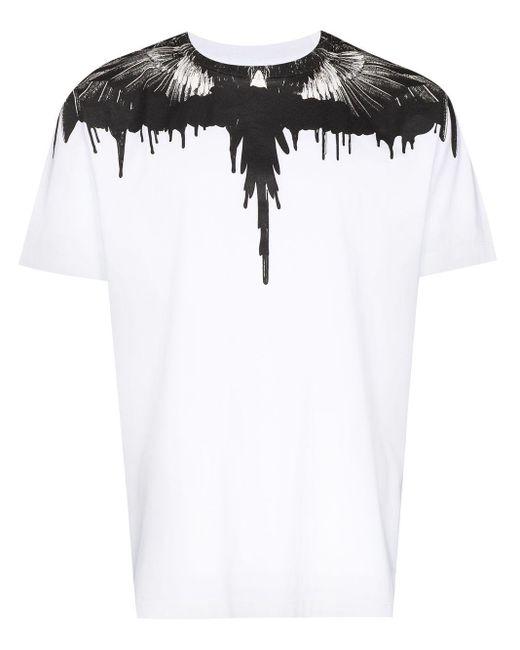 メンズ Marcelo Burlon Wings Tシャツ White