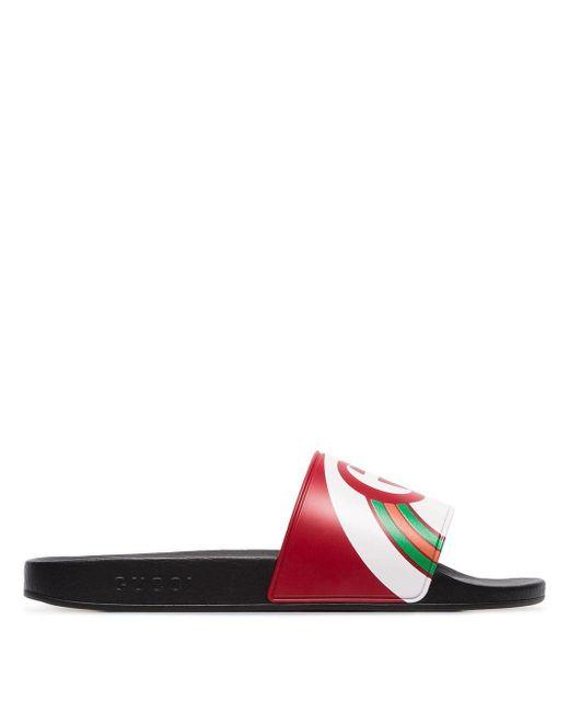 Gucci Multicoloured Pursuit Logo Slides for men