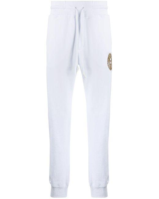 メンズ Versace Jeans ロゴ トラックパンツ White