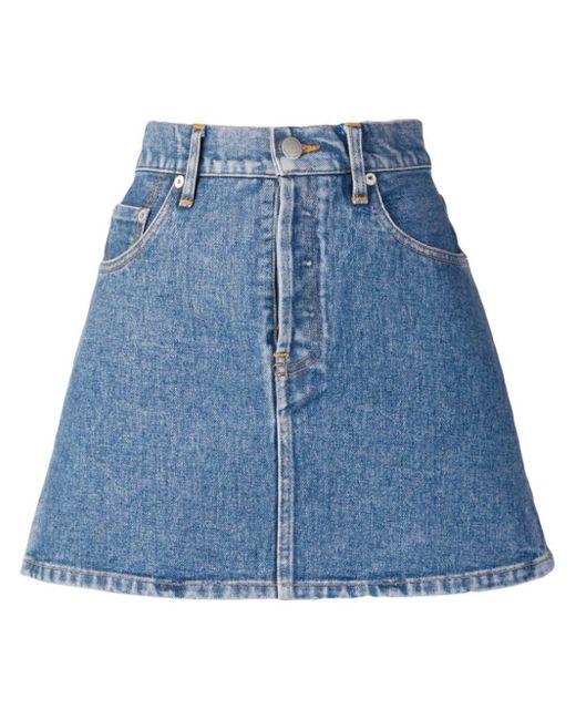 Simon Miller Blue Mini Denim Skirt