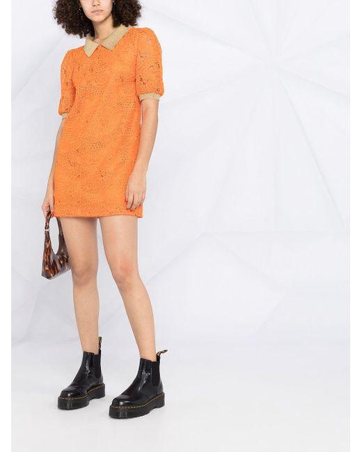 Boutique Moschino レース シフトドレス Orange