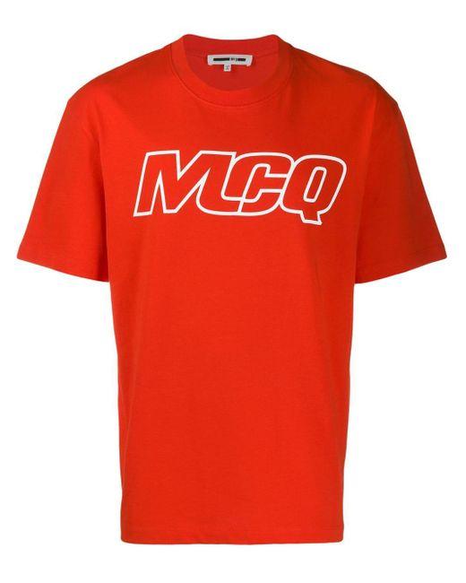 メンズ McQ Alexander McQueen ロゴ Tシャツ Red