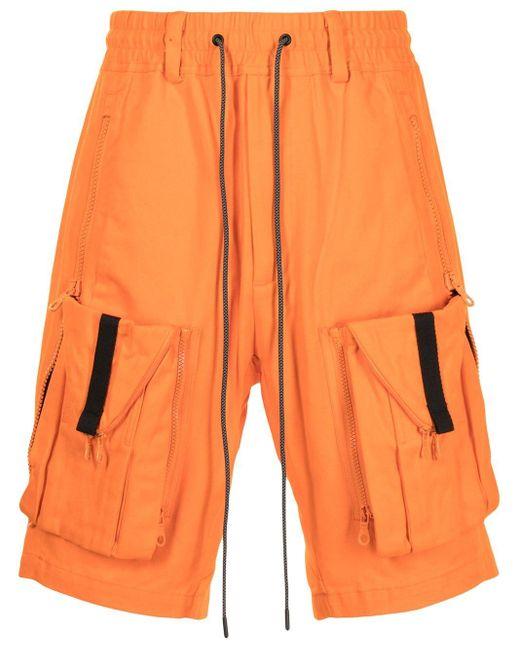 メンズ Mostly Heard Rarely Seen Zipoff カーゴショーツ Orange
