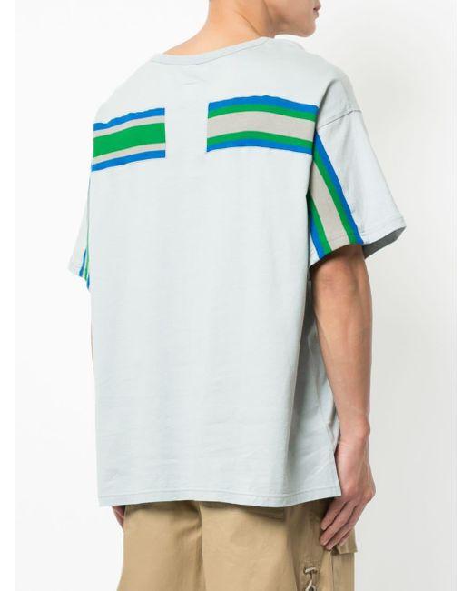 Facetasm ストライプパネル Tシャツ Multicolor