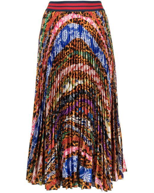 Stella Jean プリーツスカート Multicolor