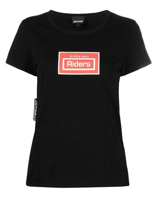Just Cavalli プリント Tシャツ Black
