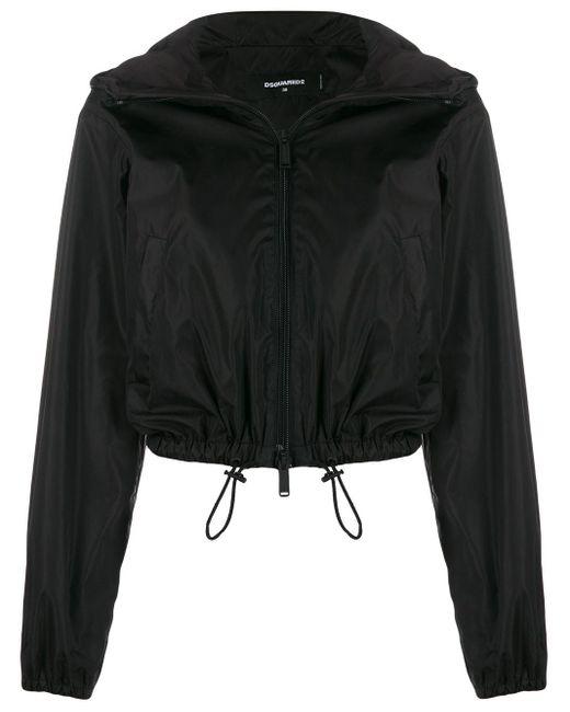 DSquared² ロゴ フーデッドジャケット Black