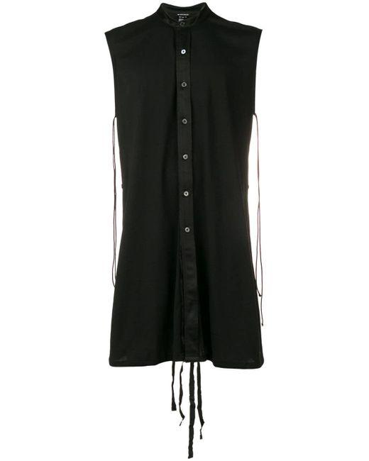 Ann Demeulemeester Black Adjustable Long Shirt for men