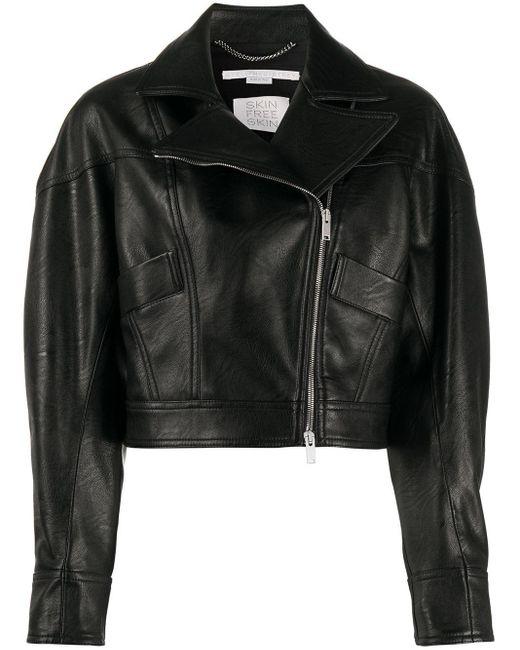 Укороченная Байкерская Куртка Stella McCartney, цвет: Black