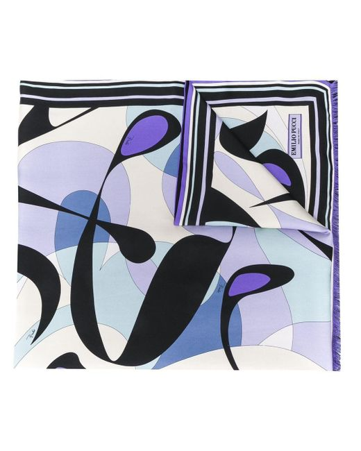 Платок Alex С Принтом Emilio Pucci, цвет: Blue