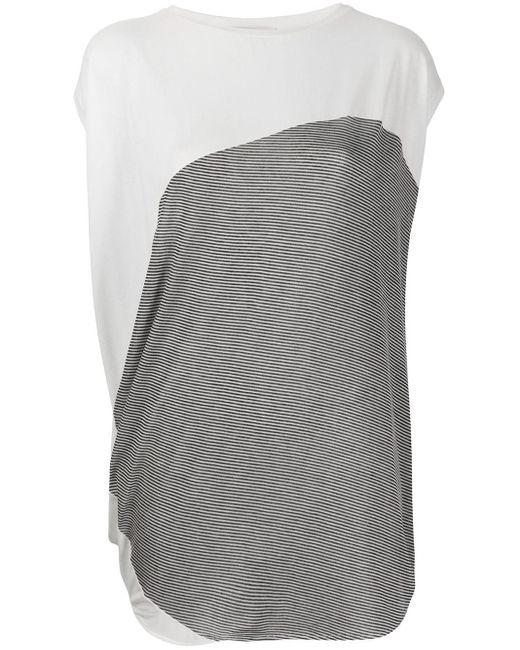 Stefano Mortari オーバーサイズ ストライプ Tシャツ Gray