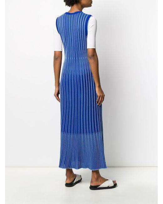 M Missoni ストライプ ニットドレス Blue