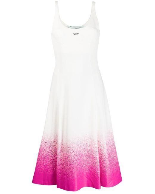 Off-White c/o Virgil Abloh Degrade ドレス White