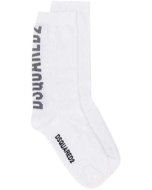 Носки С Логотипом DSquared² для него, цвет: White